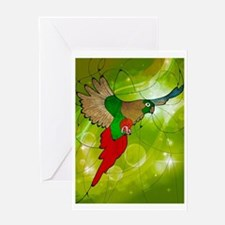 stained glass parrot Greeting Card