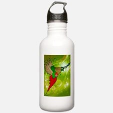 stained glass parrot Water Bottle