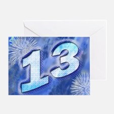 13th birthday card with blue fireworks Greeting Ca
