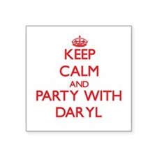 Keep Calm and Party with Daryl Sticker