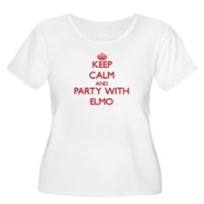 Keep Calm and Party with Elmo Plus Size T-Shirt