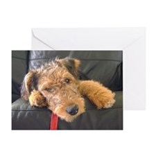Earnest the Airedale Greeting Card