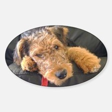Earnest the Airedale Decal