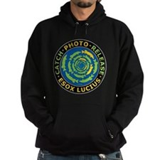 Catch And Release Esox Lucius Hoodie (Dark)