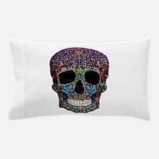 Colorskull on Black Pillow Case