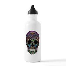 Colorskull on Black Water Bottle