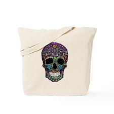 Colorskull on Black Tote Bag