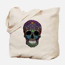 Colorskull on Black Tote Bag