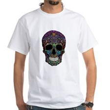 Colorskull on Black T-Shirt