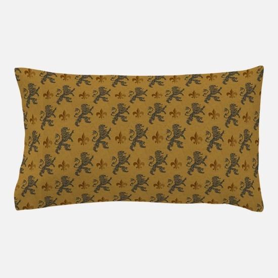 Rampant Lions And Fleurs Pillow Case