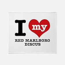 I love my red marlboro discus Throw Blanket