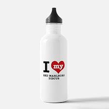 I love my red marlboro discus Water Bottle