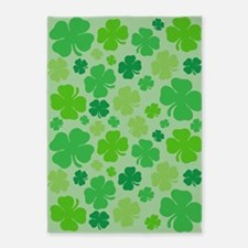 Lucky Green Clover 5'x7'Area Rug