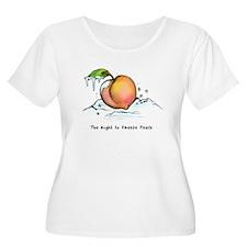 Freeze Peach Plus Size T-Shirt
