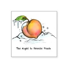 Freeze Peach Sticker