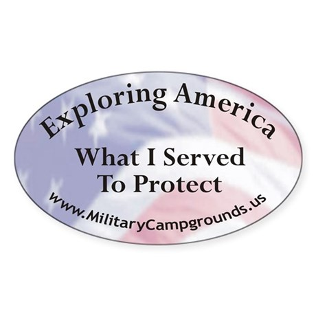 Military Campgrounds Oval Sticker