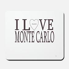I Love Monte Carlo Mousepad