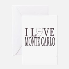 I Love Monte Carlo Greeting Cards