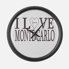 I Love Monte Carlo Large Wall Clock
