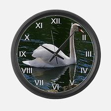 Mute Swan Summer Large Wall Clock