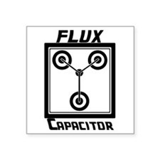 "Flux Capacitor Back to the  Square Sticker 3"" x 3"""
