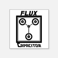 """Flux Capacitor Back to the  Square Sticker 3"""" x 3"""""""