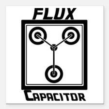 """Flux Capacitor Back to t Square Car Magnet 3"""" x 3"""""""