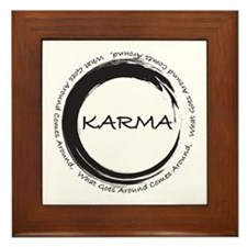 Karma, What Goes Around Comes Around Framed Tile