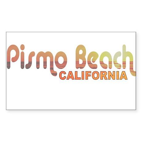 Pismo Beach, California Rectangle Sticker
