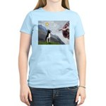 Creation of a Boston Ter Women's Light T-Shirt