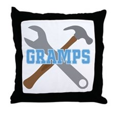 Gramps tool design Throw Pillow