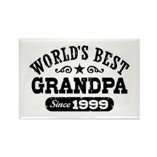 World's Best Grandpa Since 1999 Rectangle Magnet