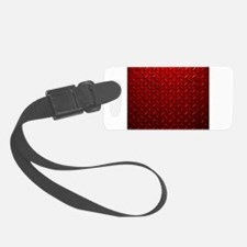 Red Diamond Plate Luggage Tag