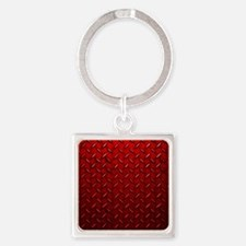 Red Diamond Plate Keychains