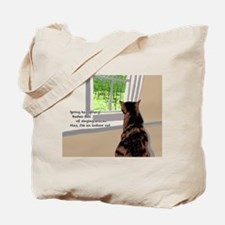 Indoor cat Tote Bag