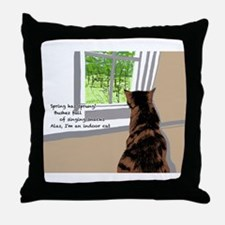 Indoor cat Throw Pillow