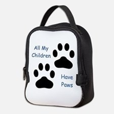 All My Children Have Paws 1 Neoprene Lunch Bag
