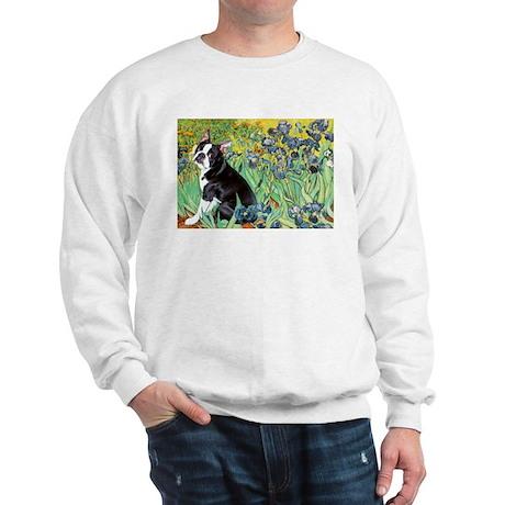 Irises & Boston Ter Sweatshirt