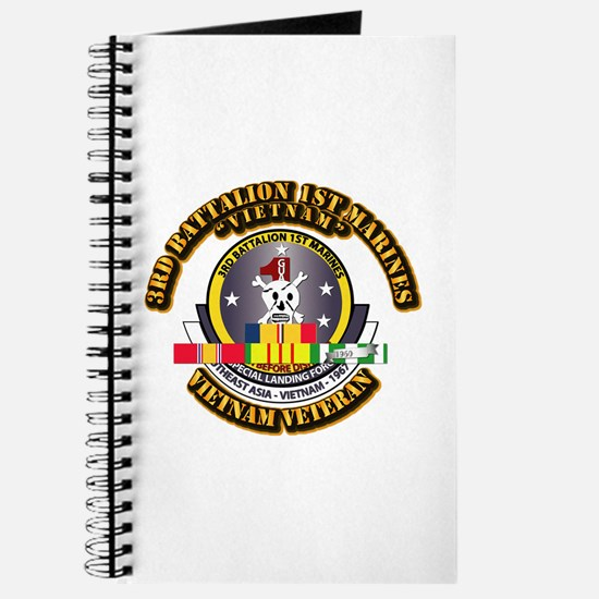 SSI - 3rd Bn - 1st Marines w VN SVC Ribbon Journal
