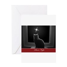 British Shorthair Gazing at Christmas Star Greetin