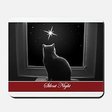 British Shorthair Gazing at Christmas Star Mousepa