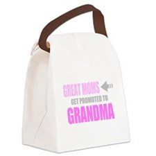 Promoted to Grandma Canvas Lunch Bag
