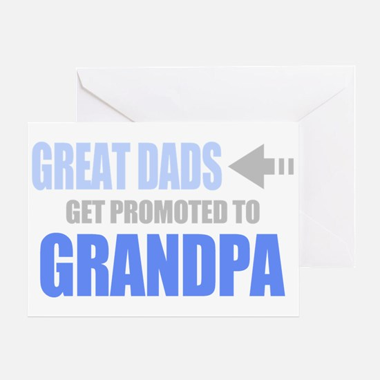 Promoted to Grandpa Greeting Cards