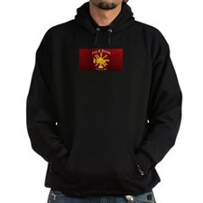 Fire and Rescue For Life Diamond Plate Hoodie
