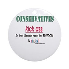 Conservs kick ass Ornament (Round)