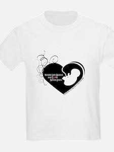 Where Love Begins Pro Life T-Shirt
