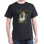 Ophelia & Boston Terrier Dark T-Shirt