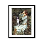Ophelia & Boston Terrier Framed Panel Print