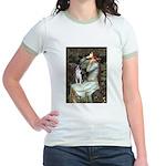 Ophelia & Boston Terrier Jr. Ringer T-Shirt