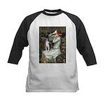 Ophelia & Boston Terrier Kids Baseball Jersey